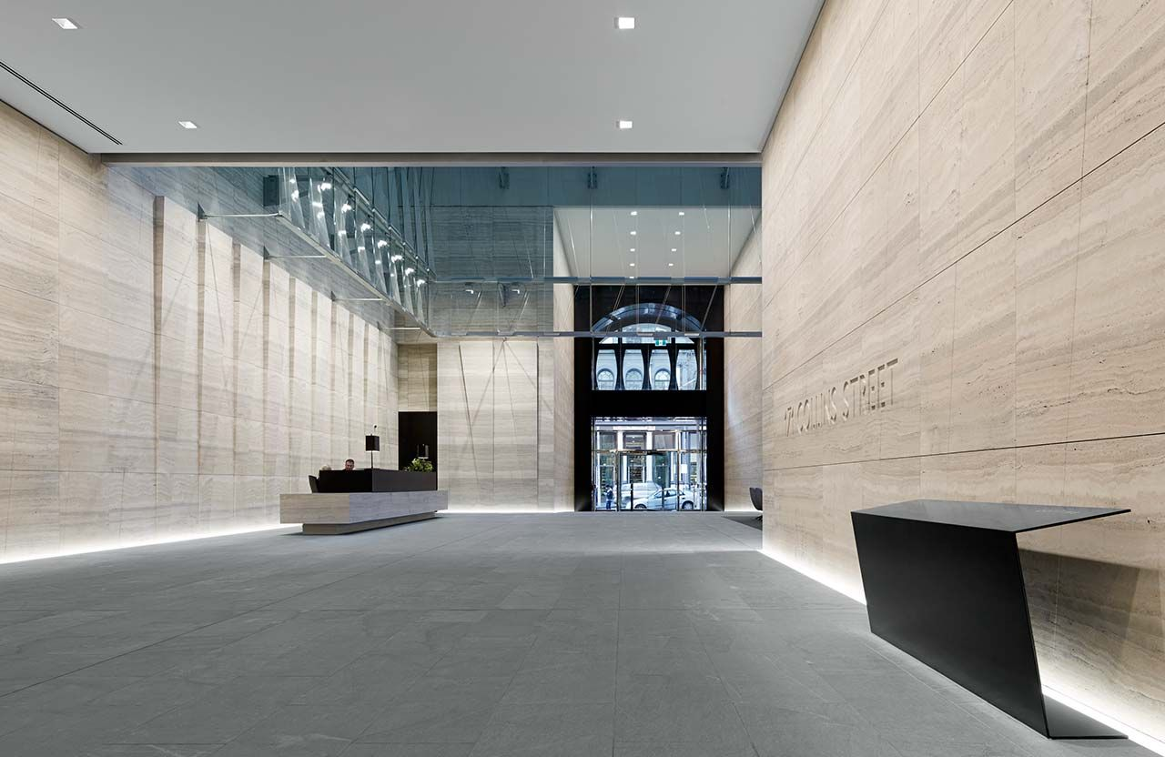 Office Foyer Meaning : Collins street melbourne google search concierge