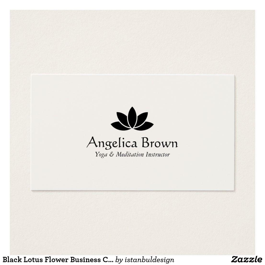 Black Lotus Flower Business Card | Business cards