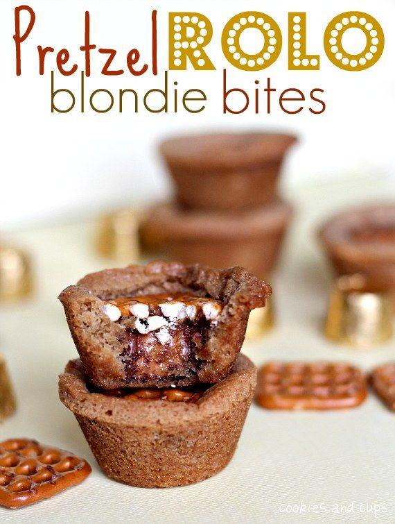 Pretzel Rolo Blondie Bites!