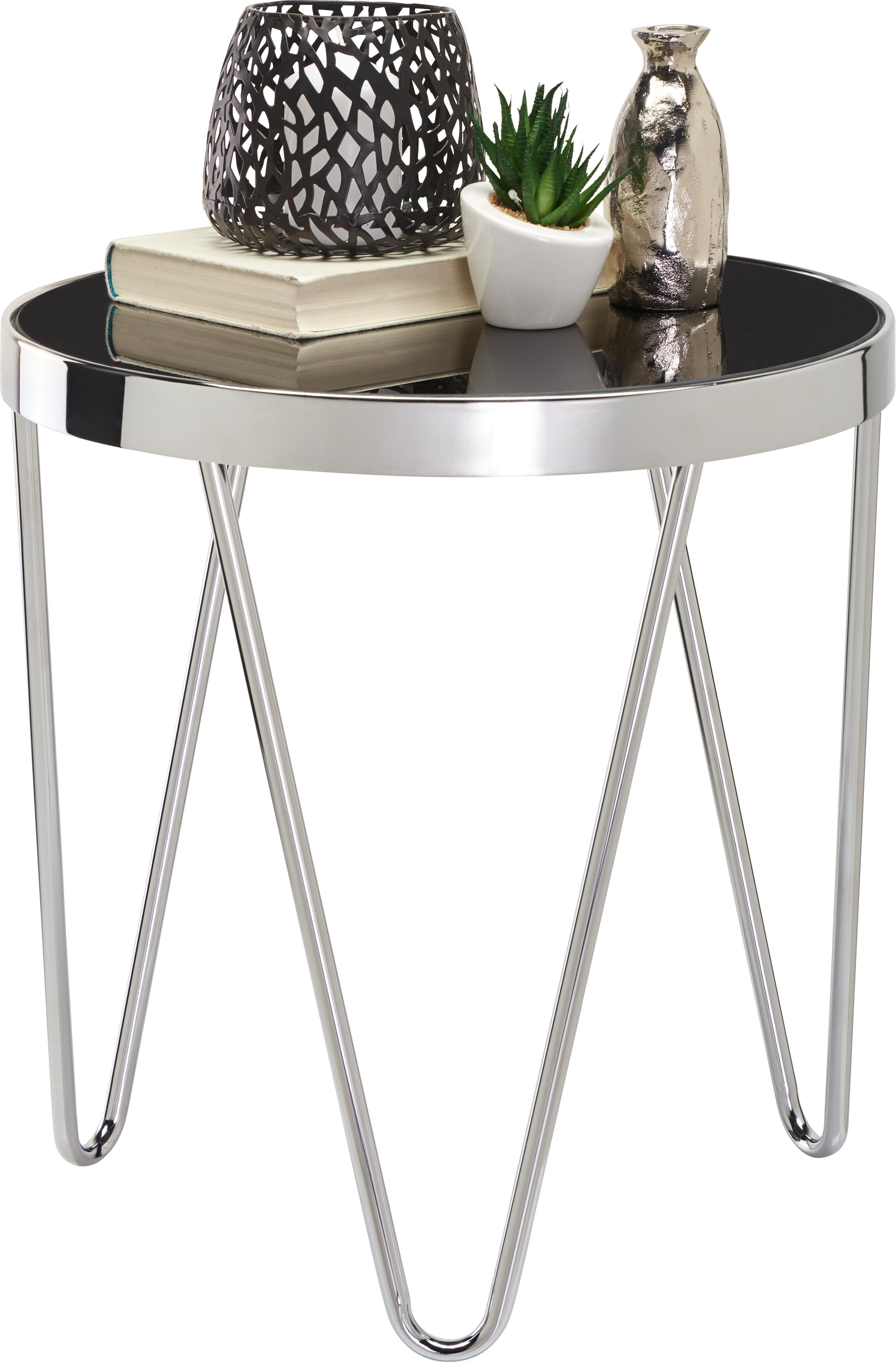 verchromtes stahl und schwarzes glas ein beistelltisch f r jeden moment ob im wohnzimmer f r. Black Bedroom Furniture Sets. Home Design Ideas
