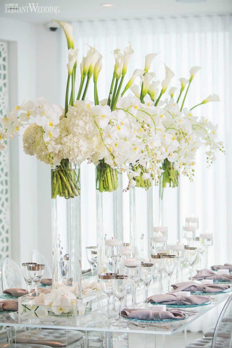 All-White Beach Wedding Theme | Pinterest | White floral ...