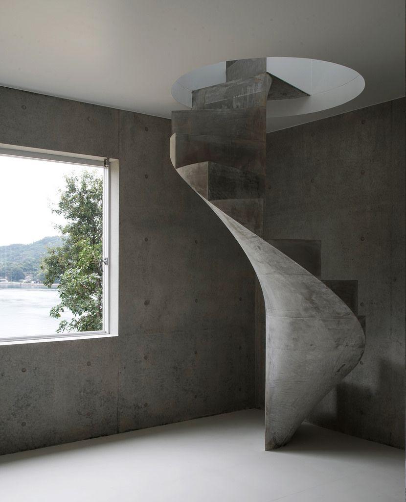 concrete spiral staircase Staircase design, Concrete