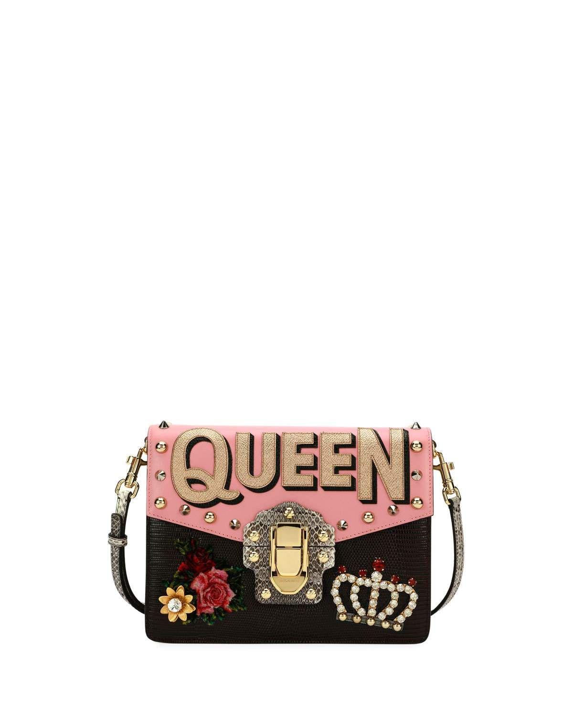 Dolce   Gabbana Lucia Queen Embellished Shoulder Bag  3995b95df17e0