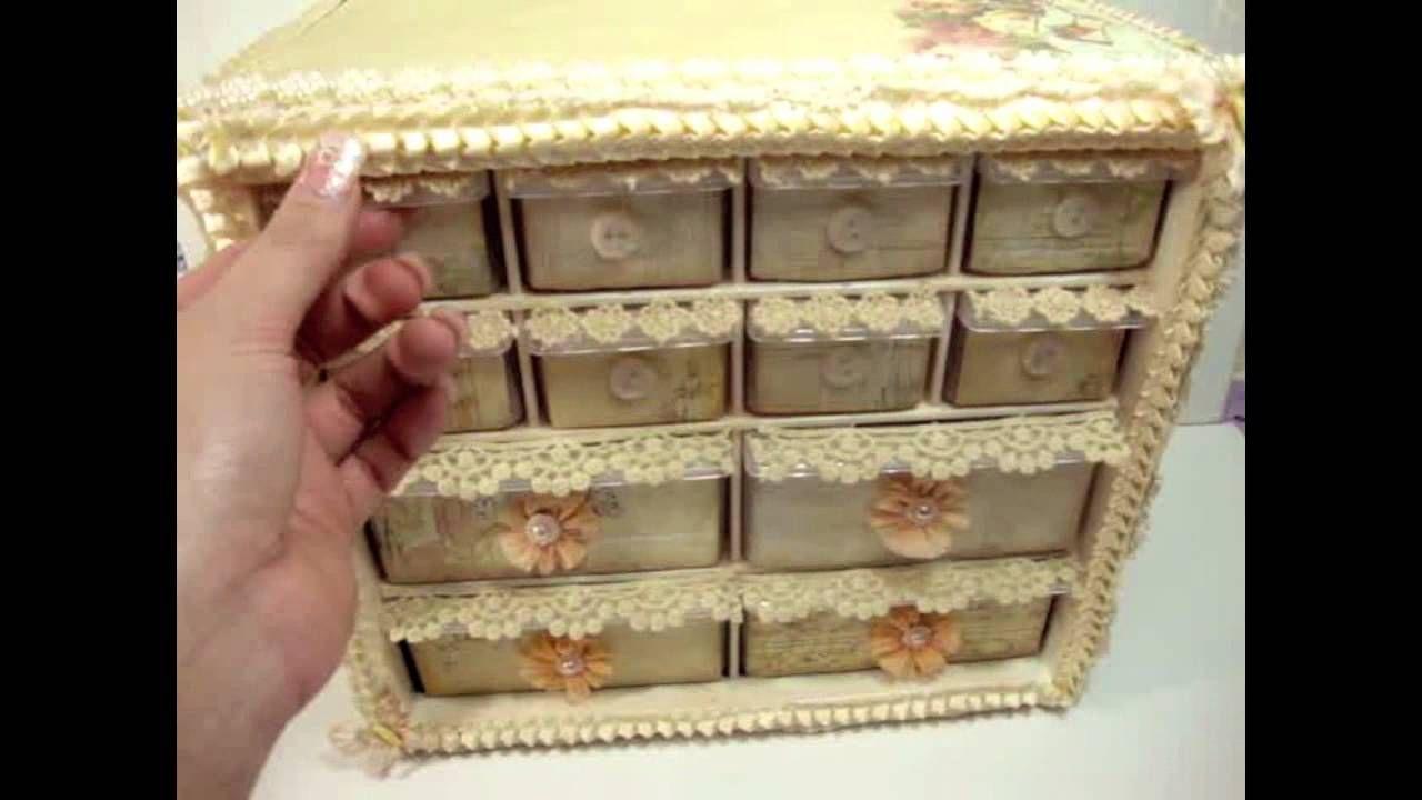 Bon Vintage Shabby Chic Storage Organizer Idea