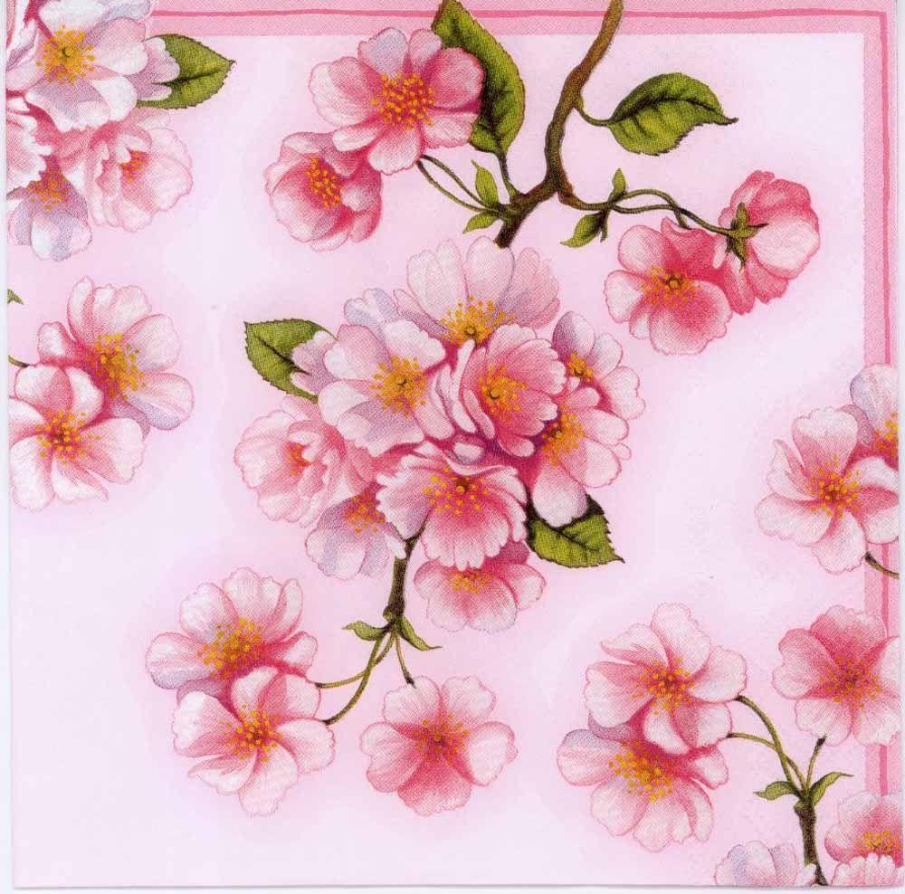 Decoupage Paper Napkins of Pink Blossoms of Spring | Chiarotino #papernapkins