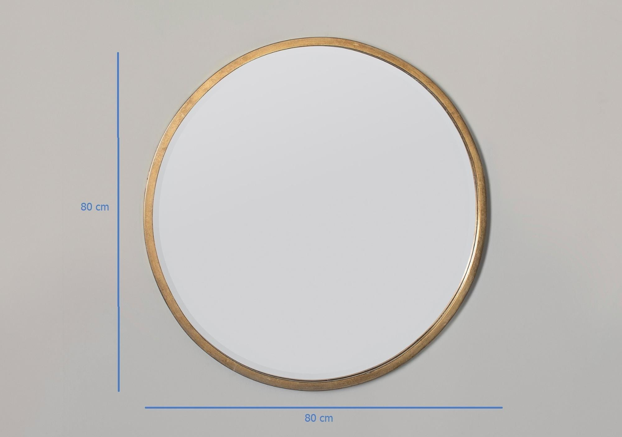 Newport Round Mirror in Antique Gold | Antique gold mirror ...