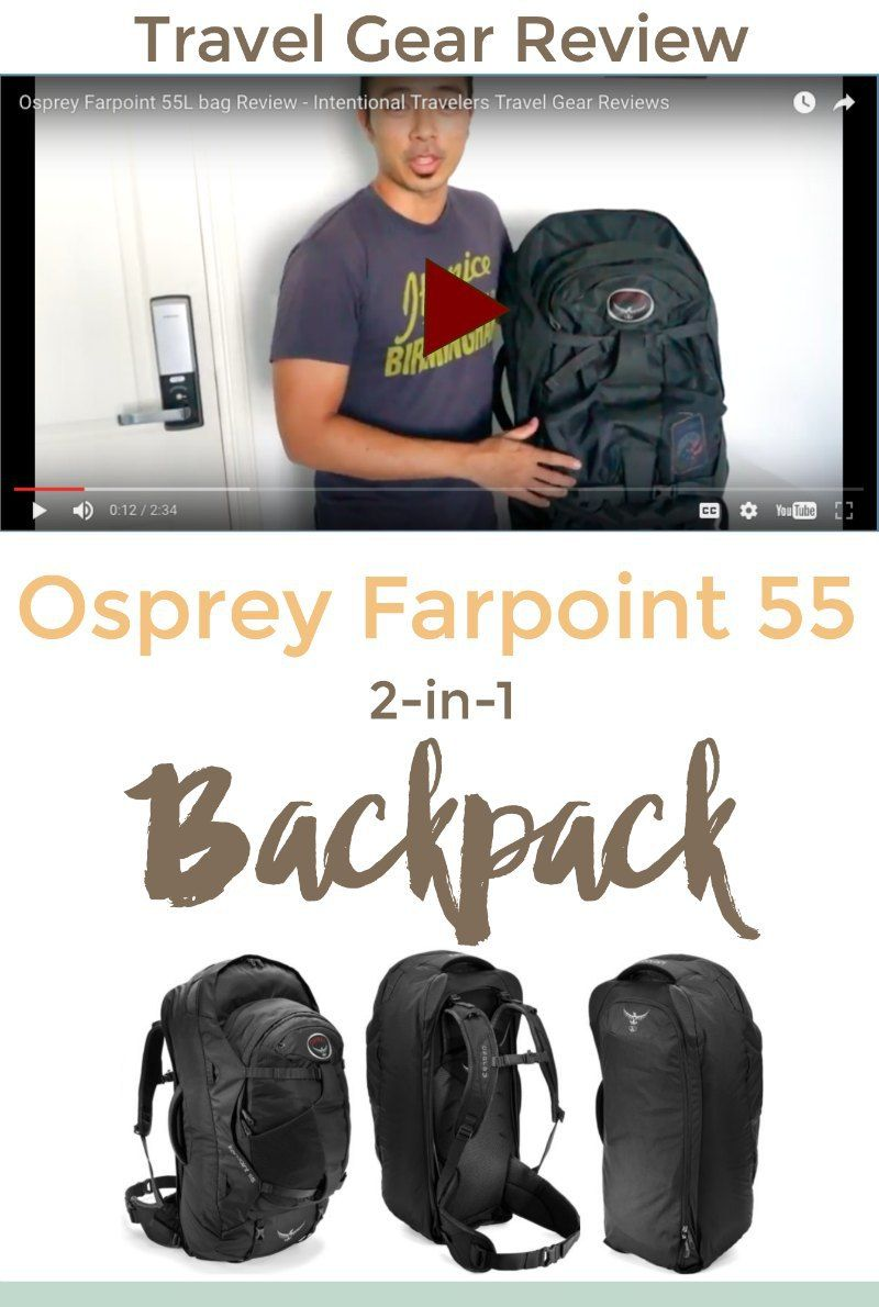 Travel Gear Review  Osprey Farpoint 55 Travel Backpack  72954ca249281
