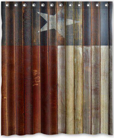 Special Design Western Texas Star Waterproof Bathroom Fabric Shower Curtain Bathroom Decor 60 X