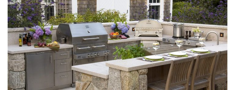 Diy Outdoor Kitchen  The Aspen Outdoor Kitchen Design Is A Chef's Glamorous Outdoor Kitchens And Patios Designs 2018