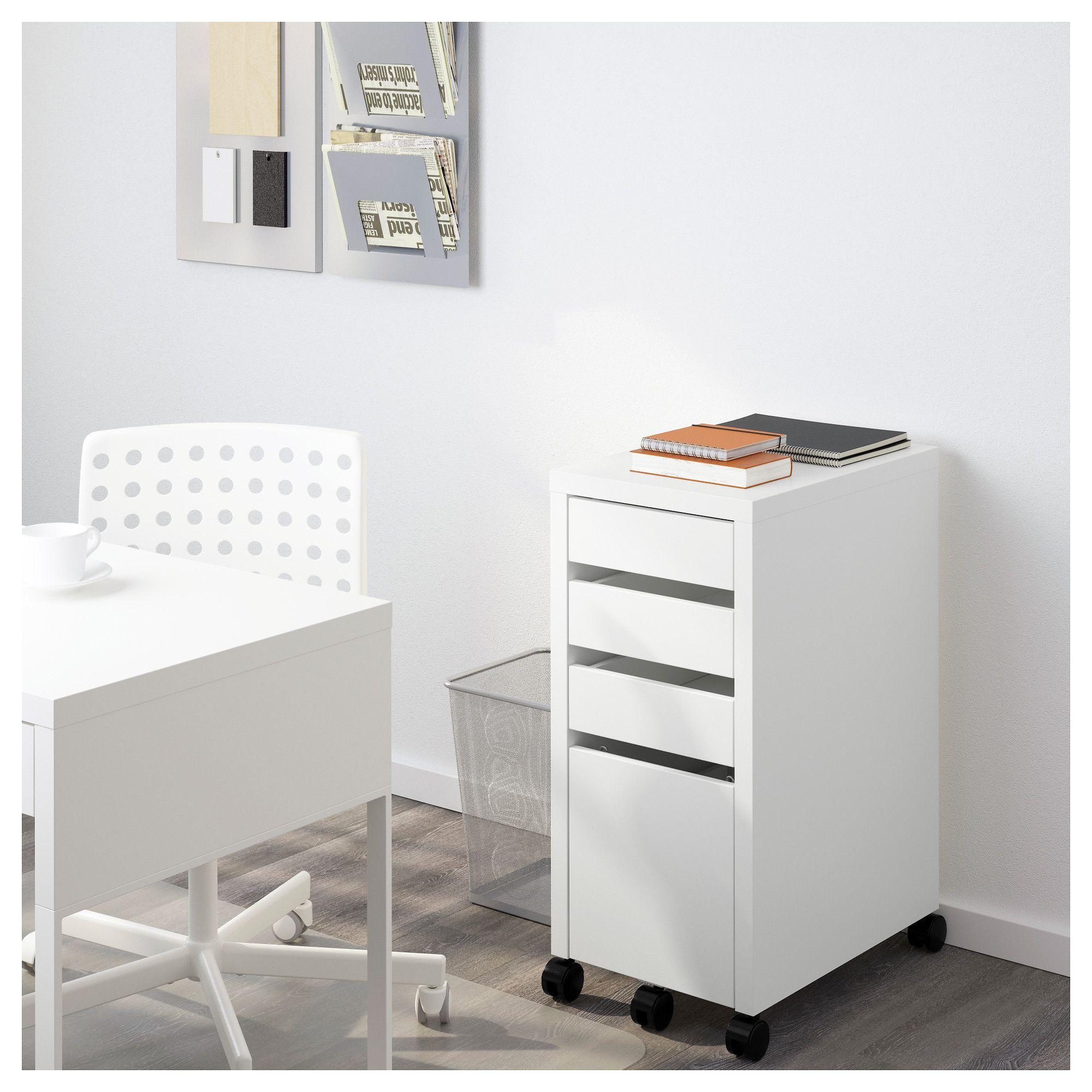 big sale 60c22 c2350 IKEA - MICKE Drawer unit/drop file storage white   Craft ...