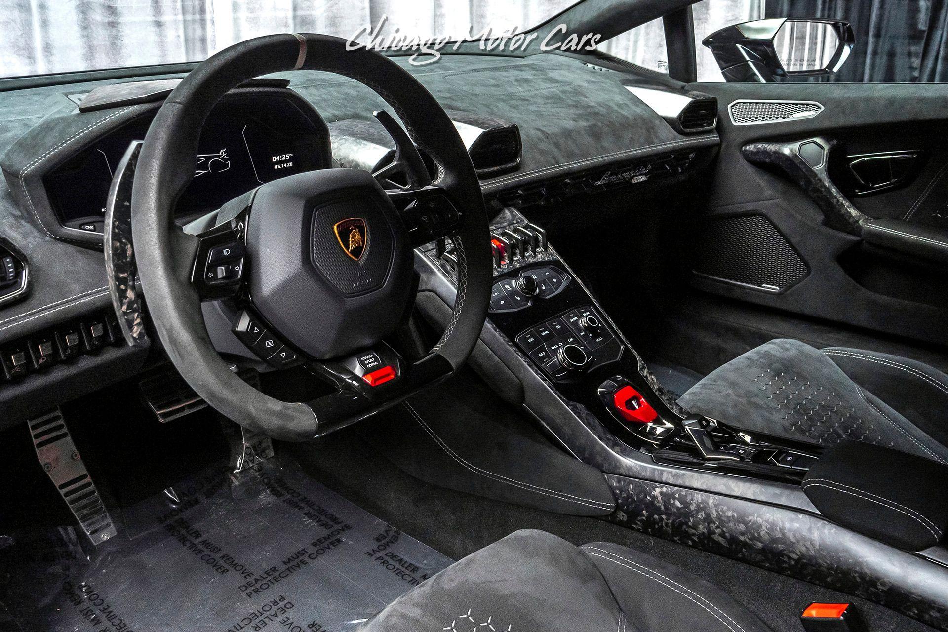2018 Lamborghini Huracan Performante Lp640 4 Coupe Chicago Motor Cars United States For Sale Lamborghini Huracan Lamborghini Huracan Interior Lamborghini