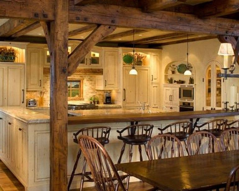 60 Best Rustic Country Style Kitchen Made by Wood that You Must See