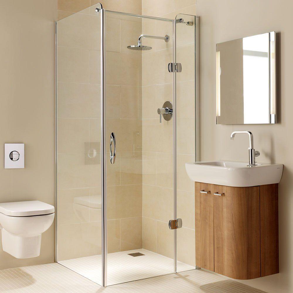 Coram Premier Frameless Hinged Shower Door 800mm Wide Right Handed