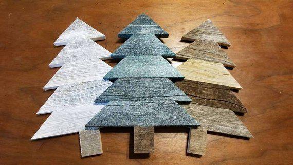 Rustic Christmas Tree Decoration, Reclaimed Wood Tree, Holiday