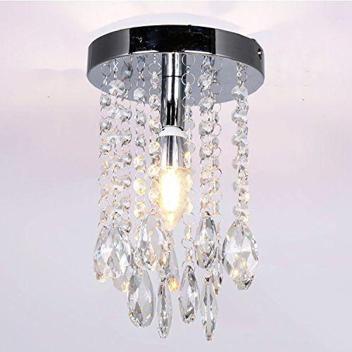 Navimc mini chrome crystal chandelier for girls room teardrop navimc mini chrome crystal chandelier for girls room teardrop pendant lamp flush mount ceiling light fixture1 aloadofball Gallery