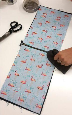 coudre une pochette avec doublure trousses pinterest doublure coudre et pochettes. Black Bedroom Furniture Sets. Home Design Ideas