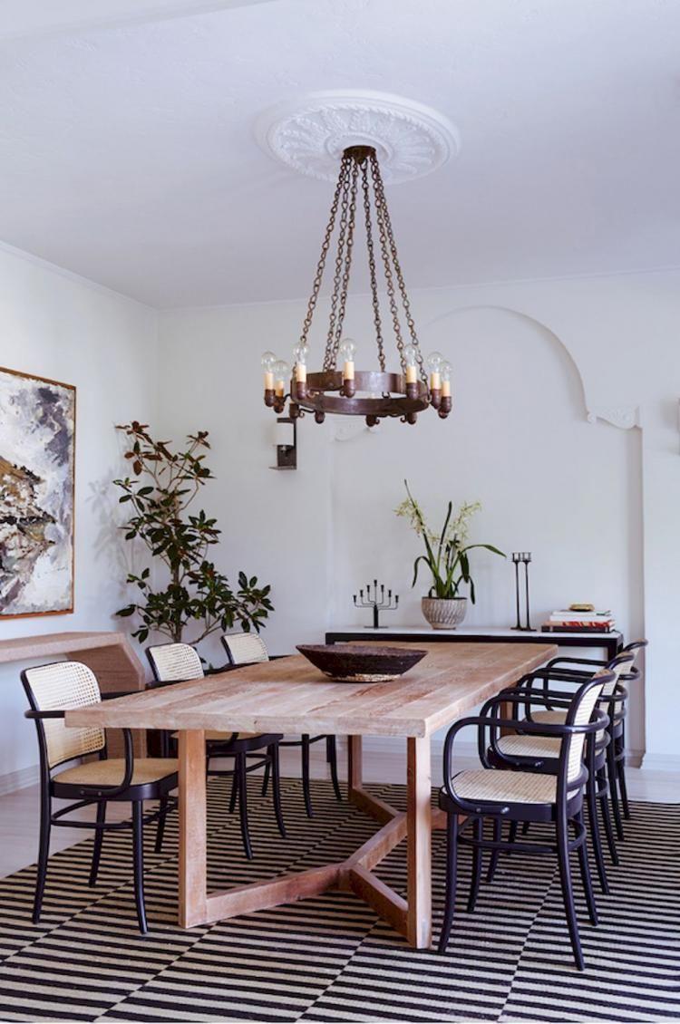 45 Modern Farmhouse Dining Room Decor Ideas Modern