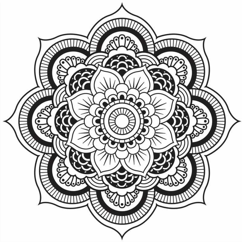 Originelle Mandala Form - Eine hübsche Blume … | Pinteres…