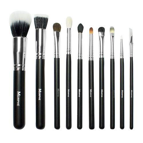 morphe brushes. morphe brushes 696 10 piece deluxe face brush set with snap case r