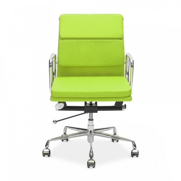 Eames Inspired Lime Green Short Back Soft Pad Executive Office ChairEames Inspired Lime Green Short Back Soft Pad Executive Office  . Eames White Soft Pad Style Executive Office Chair. Home Design Ideas