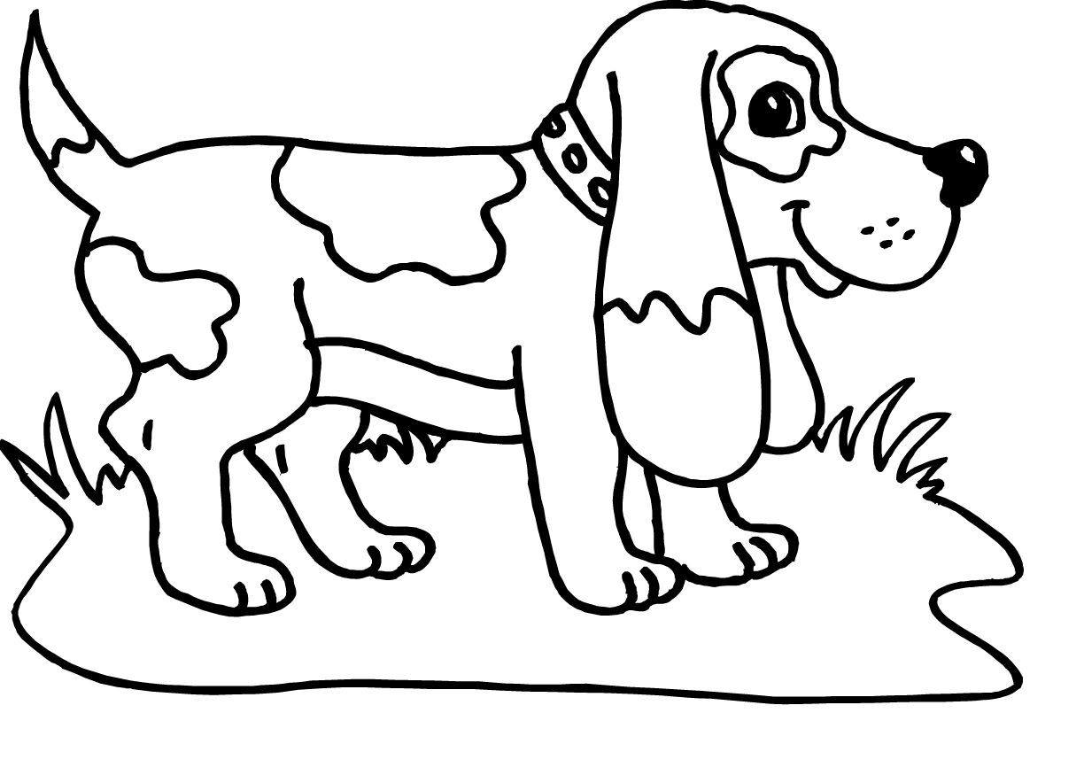 Small Dog With Long Ears Coloring Pages For Kids Printable Dogs