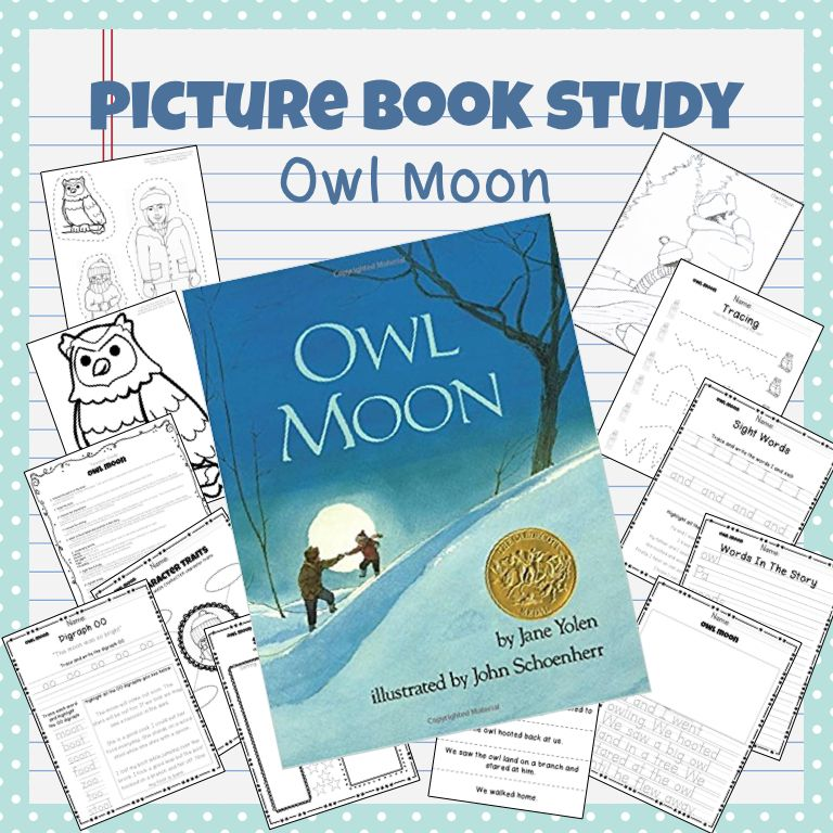 Adorable Picture Book Study For Owl Moon Which Includes Crafts