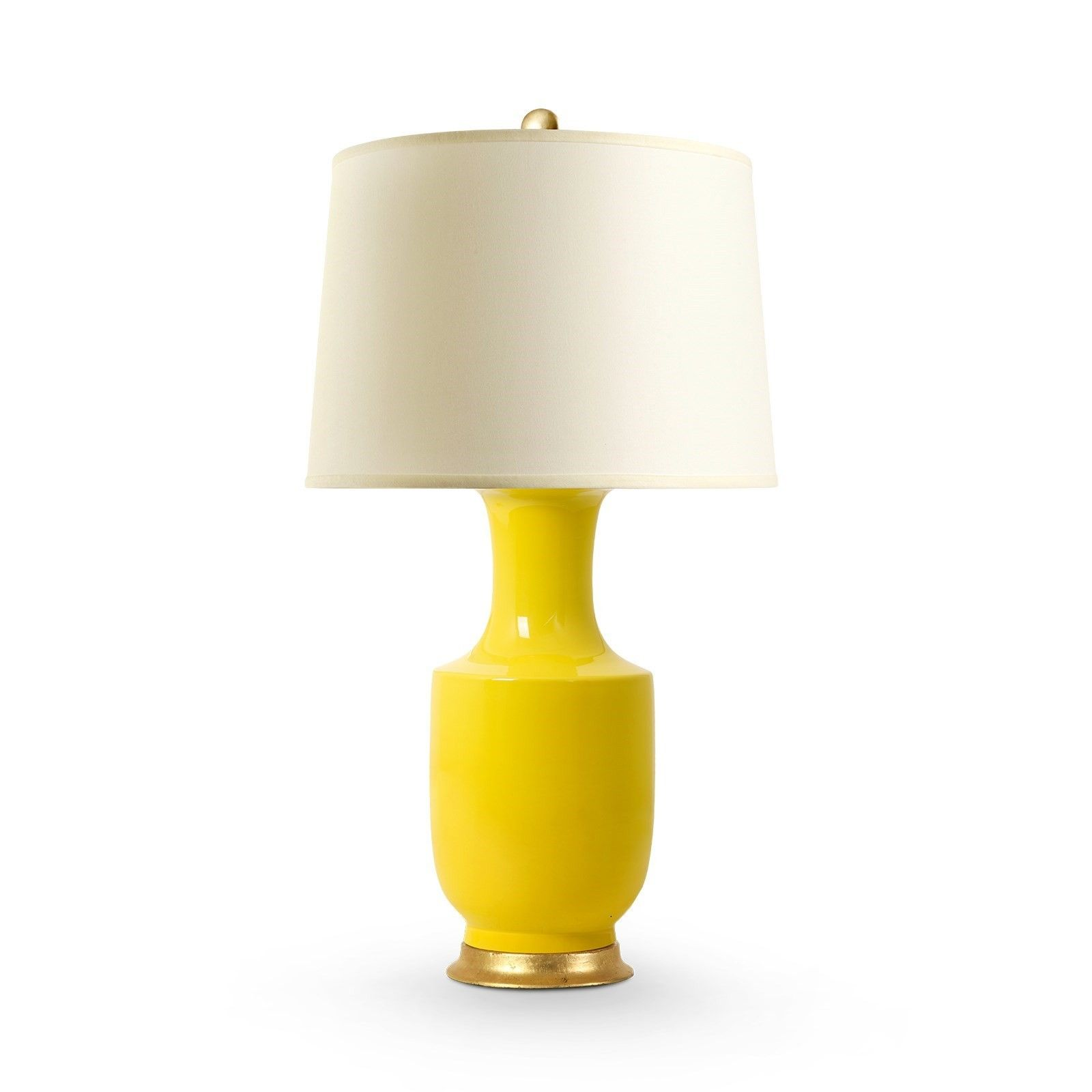 Yellow lamp base - Bungalow 5 Thalia Porcelain Lamp In Yellow With Gold Leaf Base