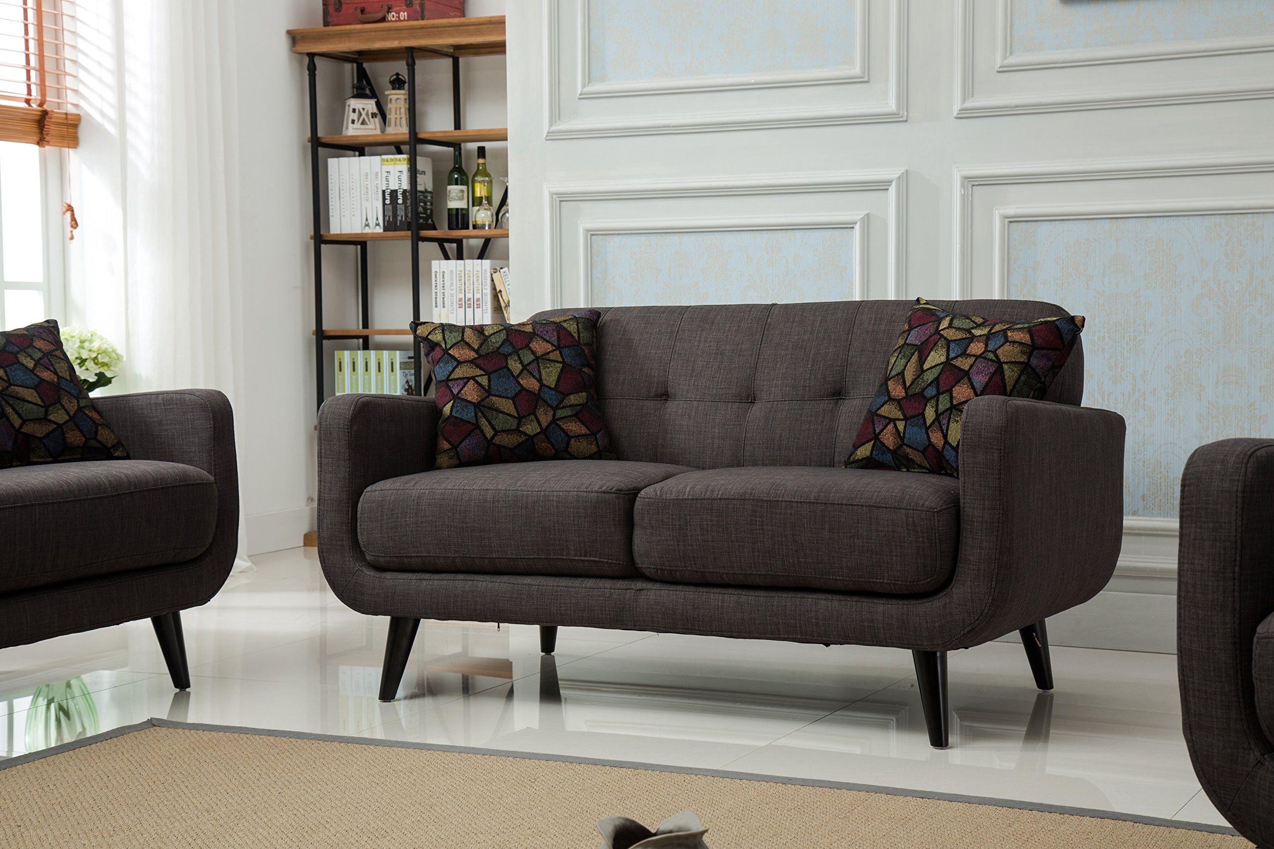 Roundhill Furniture Modibella Contemporary Living Room Loveseat ...