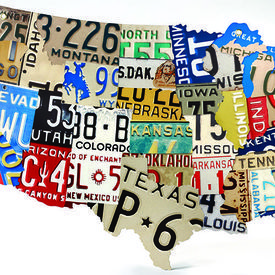 State License Plates Wall Décor