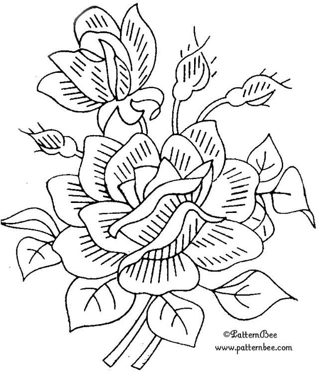 embroidery pattern colour it sew it trace it etc - Pattern Pictures To Colour