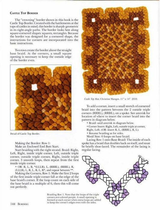 Costuras para alfombras de trenzas de 3 con formas El blog