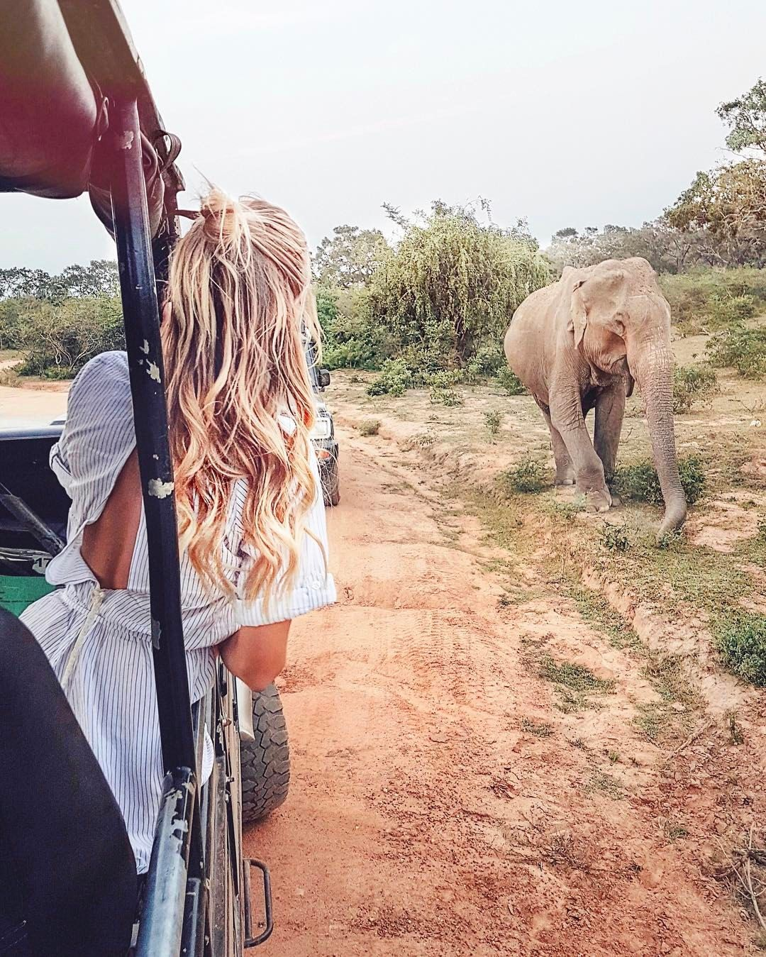 "52.7k Likes, 697 Comments - Leonie Hanne (@ohhcouture) on Instagram: ""My happiest moment of 2017 so far was my first safari at Yala National Park, Sri Lanka. We had an…"""