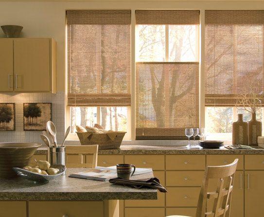 Bamboo Top Down Bottom Up Blinds Modern Kitchen Window Modern Kitchen Curtains Kitchen Curtain Designs