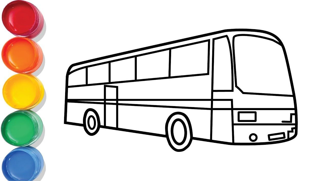City Bus Drawing And Coloring For Kids Chuchu Colors Tv Bus