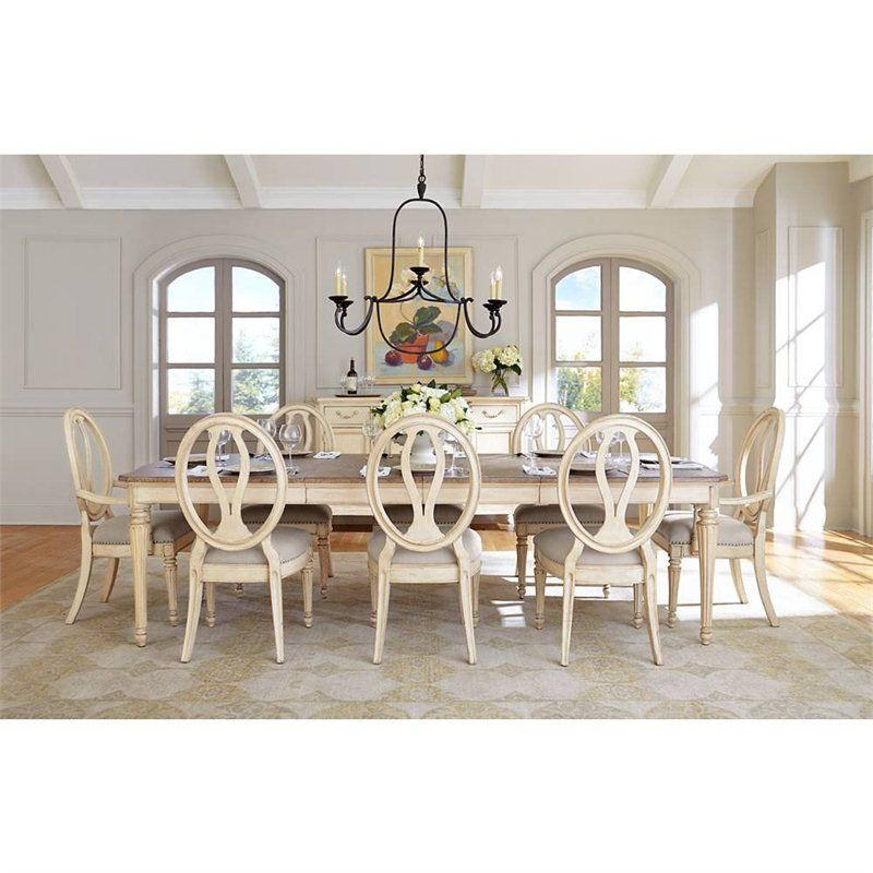 european cottage dining table in vintage white 007 21 36 dining. Interior Design Ideas. Home Design Ideas