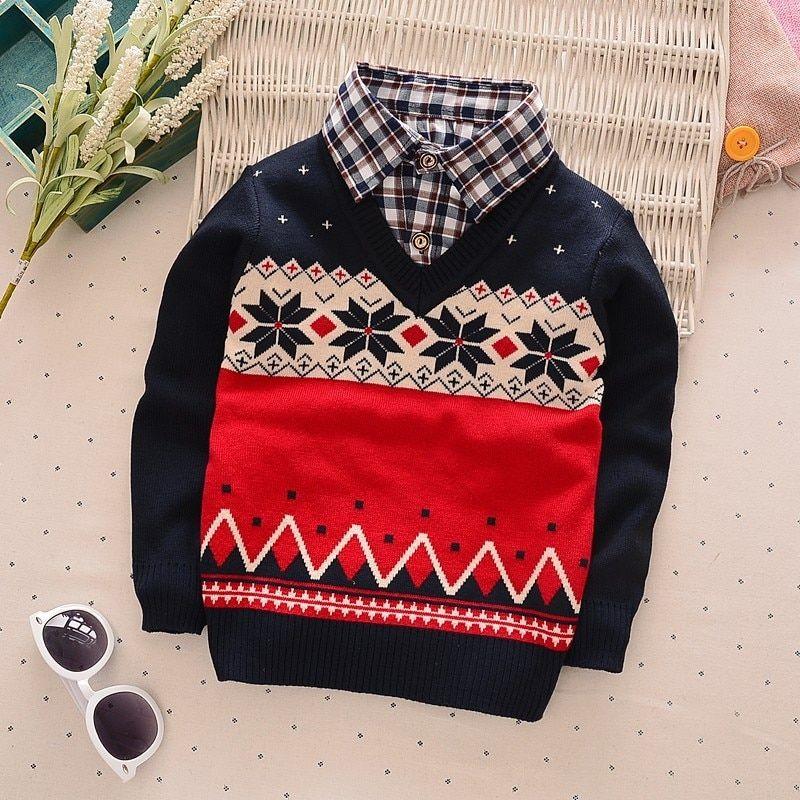 529249292 BibiCola fashion baby autumn winter sweater clothes kids boys girls ...