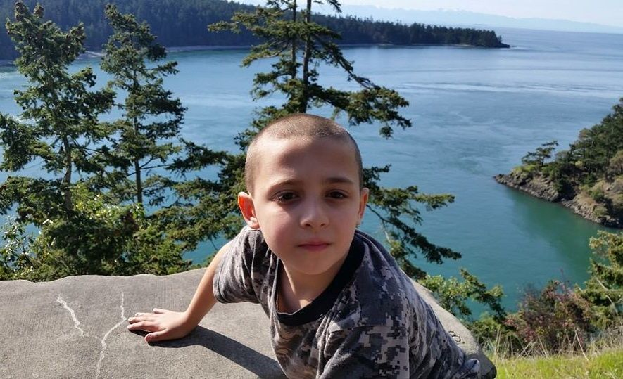 My special little man at Deception Pass State Park in Washington State. Copyright © 2015 by Natalie de Clare.