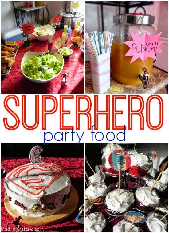 Superhero Party Lunch - Mad in Crafts