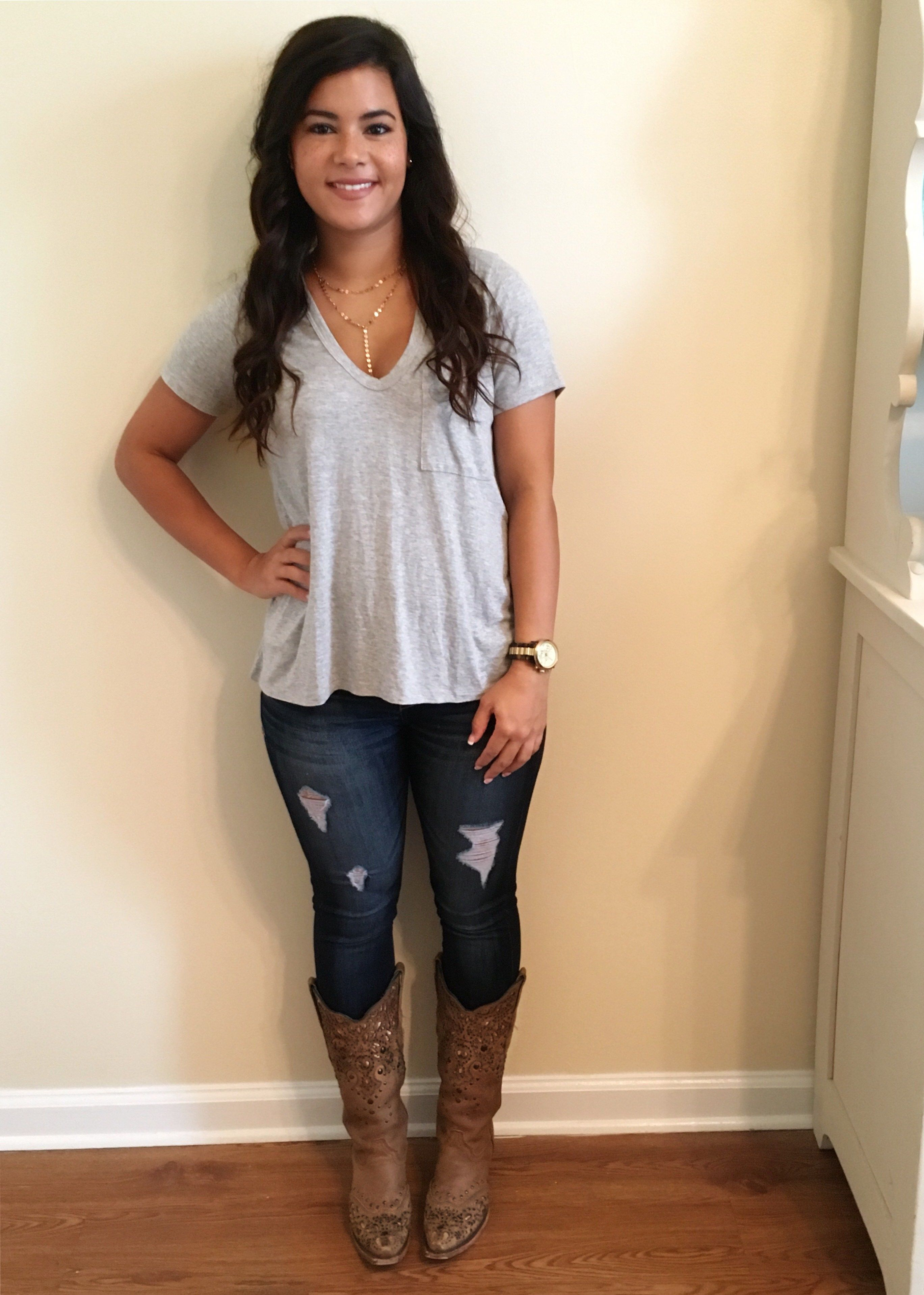 Cowgirl boots outfit