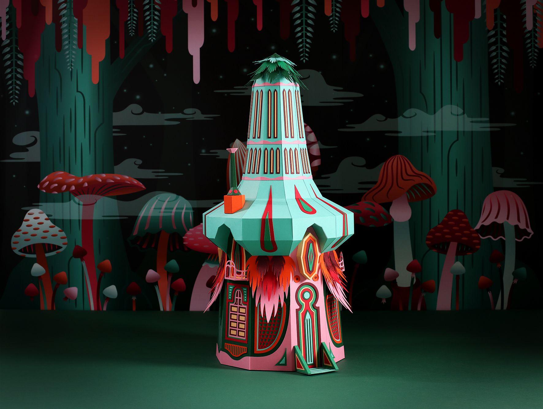 Color art dubai - Fantastic Miniature Worlds Of Nature Bursting With Color For Herm S Window Display In Dubai Mushroom
