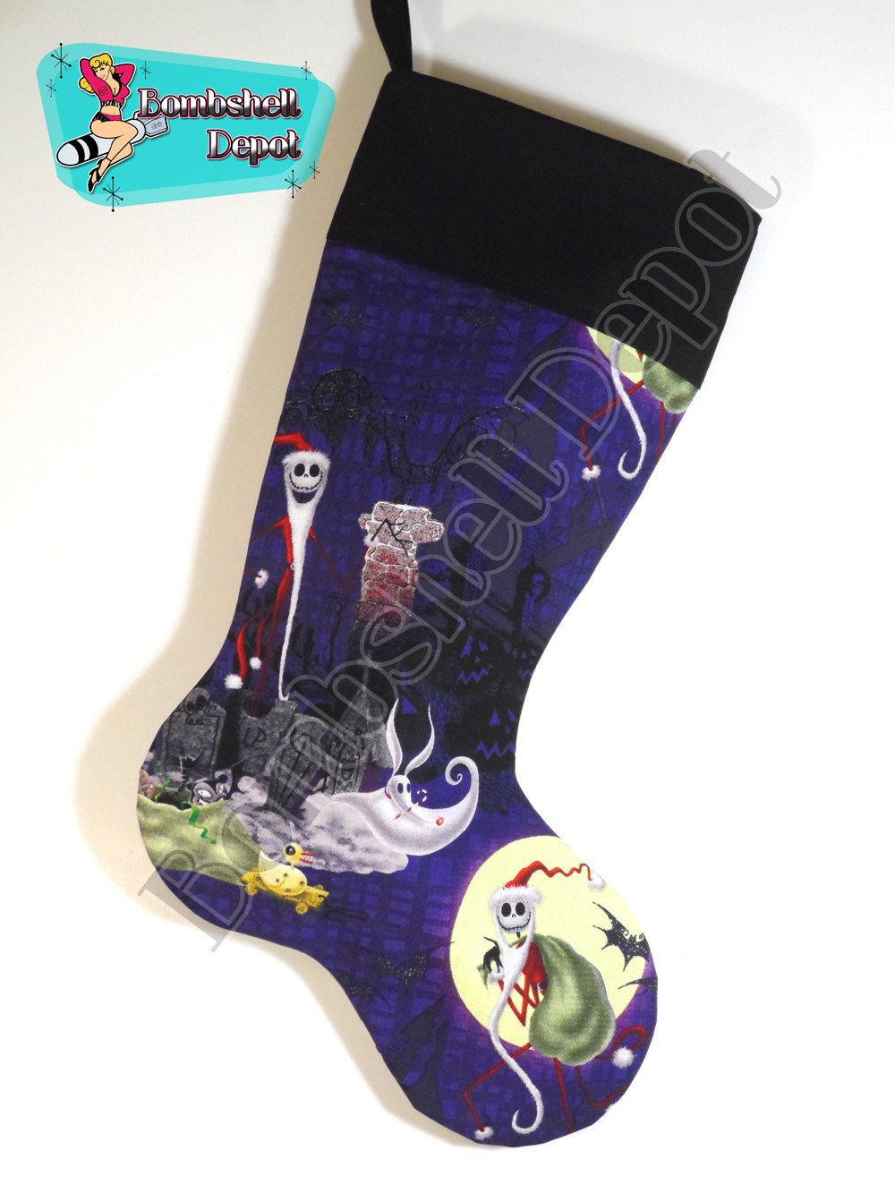 Jack, Sally, Zero Nightmare Before Christmas Fully Lined Christmas ...
