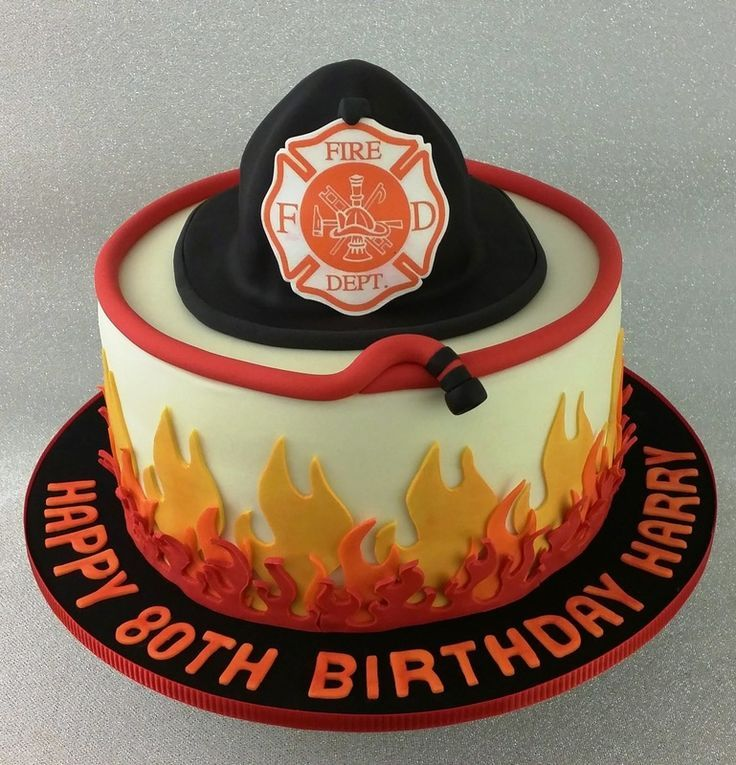 Firefighter, Fireman, Fire, Cake …