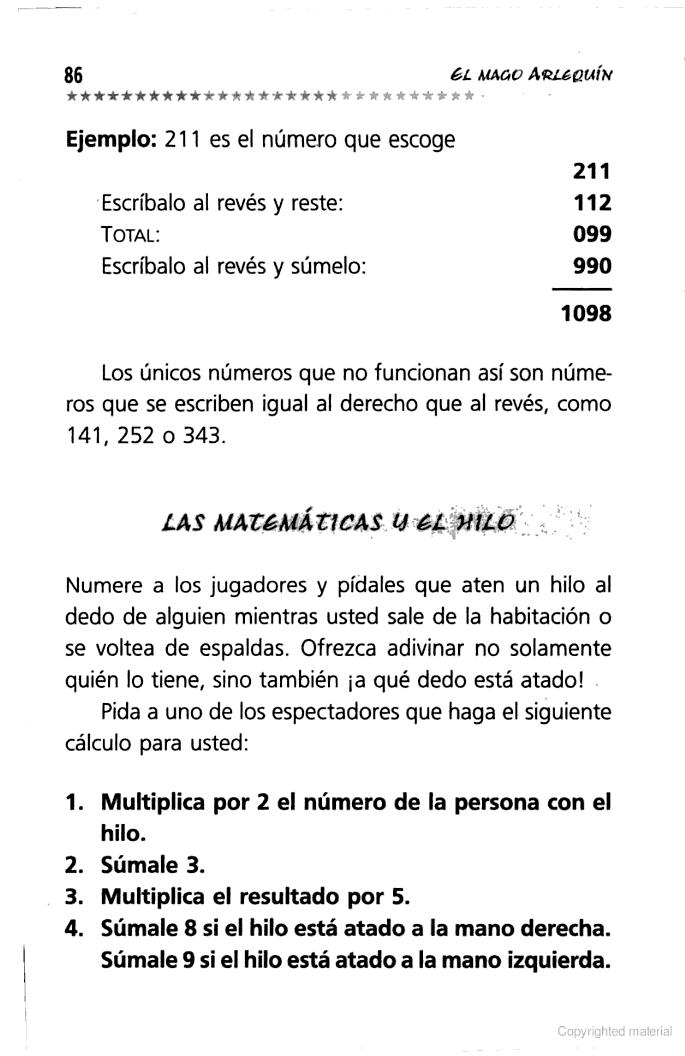 Magia, trucos e ilusiones - Arlequín - Google Books | MATEMÁTICAS ...