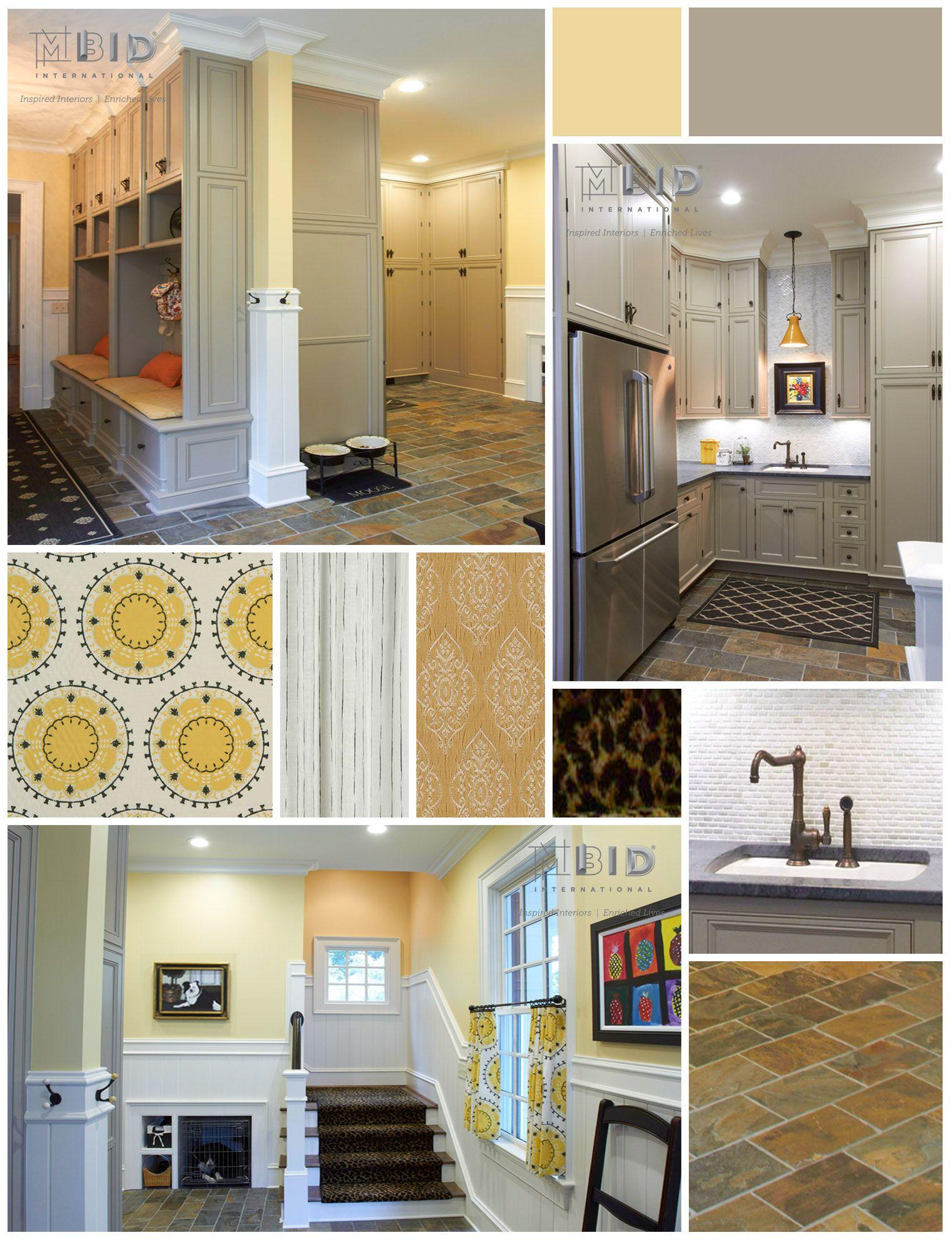 Cheerful Mudroom Interior Design Greensboro North Carolina