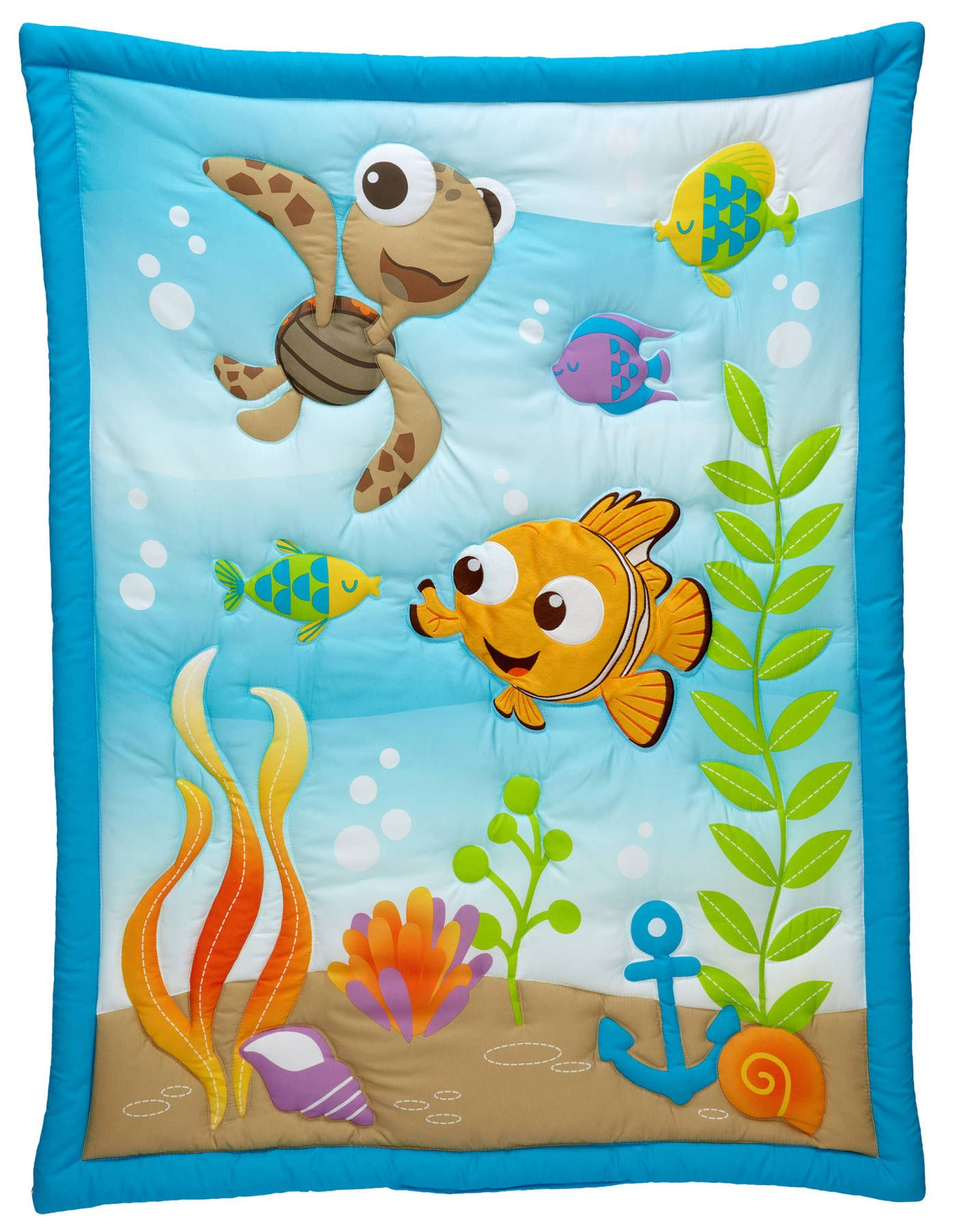 finding nemo a day at the sea 3-piece crib bedding set | baby