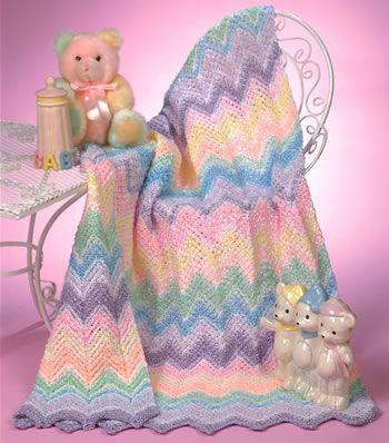 Sherbet Ripple Baby Blanket By Darla Fanton - Free Crochet Pattern - (crochet-world)