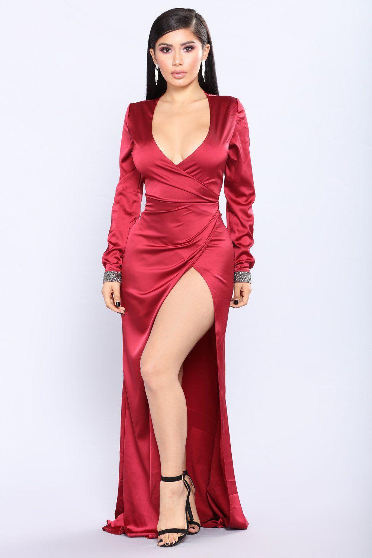 Say it in satin dress burgundy hot pinterest satin dresses