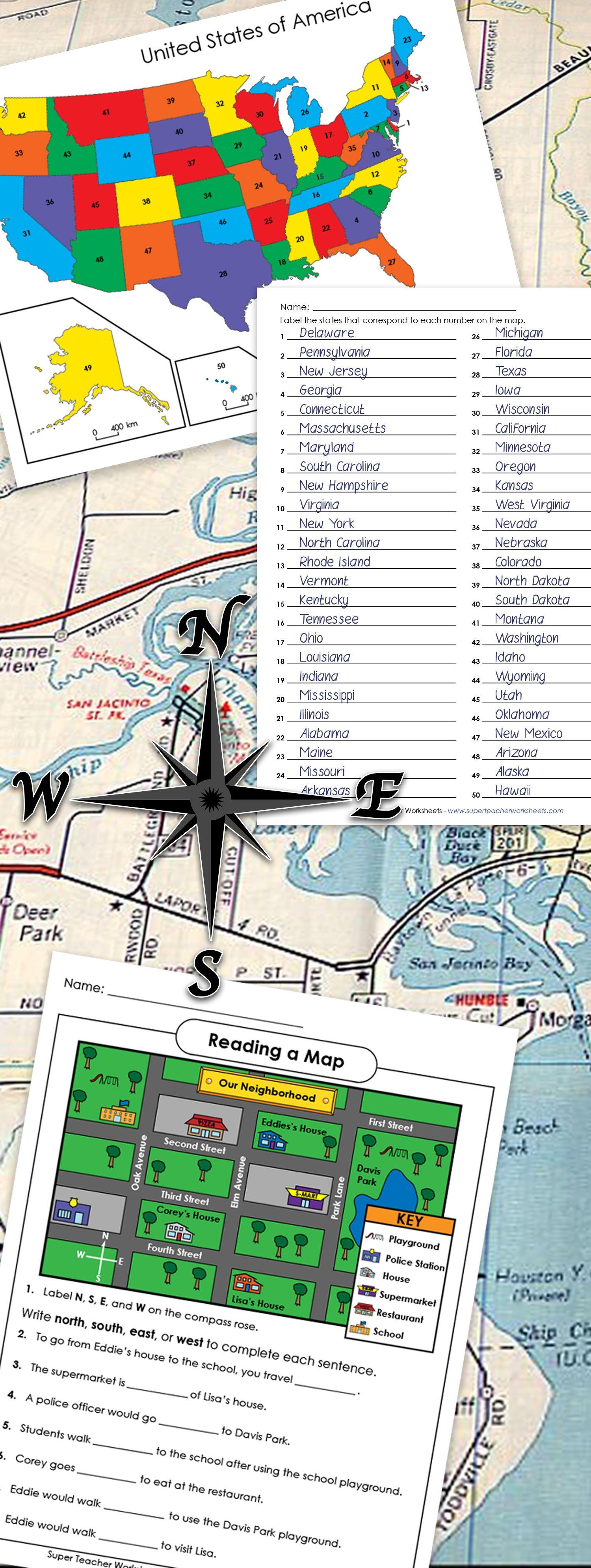 medium resolution of Map Skills Worksheets   Map skills