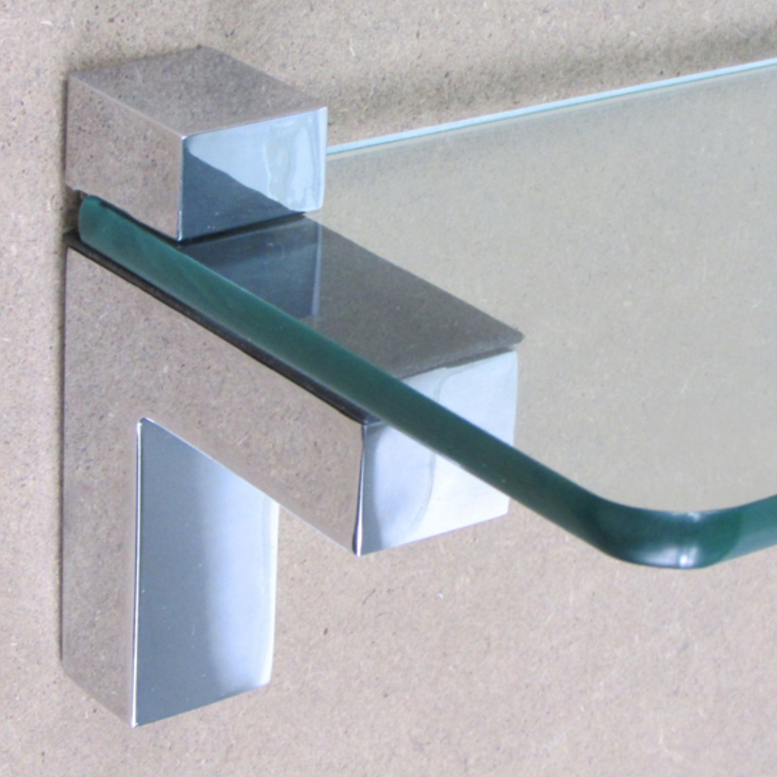 Shelf Brackets For Glass Wooden & Acrylic Shelves Hold 2-20 mm ...