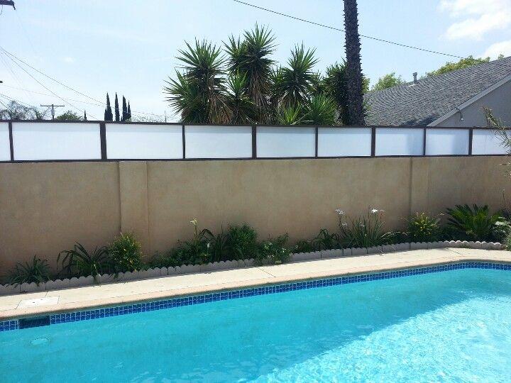 Privacy Fence For Pools Plexiglass W Steel Framework Www Harwelldesign Com Fence Design Backyard Pool Outdoor Rooms